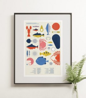 Affiche – Poissons & Fruits de mer de saison