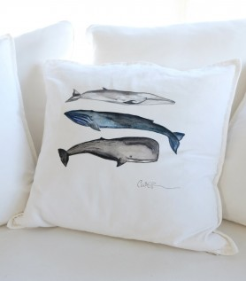 Coussin – 3 baleines